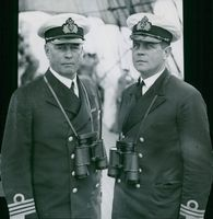 The image shows the head of the sailing ship boys department, Commander CE Måhlén and the commander of the training ship Najaden, Captain of the Najaden K. Posse
