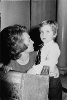 Juan Carlos I's wife with baby.