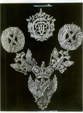 Decorations included in the collection of Russian crown jewels.