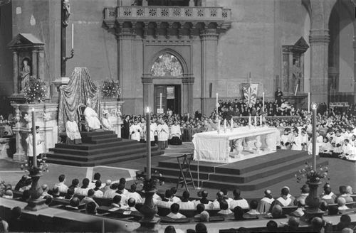 Pope Paul VI in historical place.