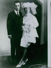 Wedding photo of Suzanne and Jean Vandeput.