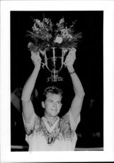 Stefan Edberg with the US Masters Cup