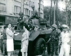 A combat vehicle in Saigon.