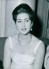 Queen Margarita of Bulgaria. 1962