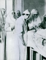 A patient being treated by the doctors.