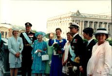 Crown Princess Victoria's 18th birthday together with the royal family and other Nordic royals with many