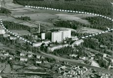Umeå's future university area marked on aerial view