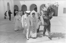Prince Moulay Abdellah of Morocco and Lamia Solh wedding. 1961.