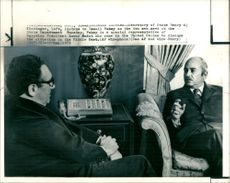 Dr. Henry Kissinger with Jomail fahmi.