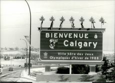 Visitors are welcomed to Calgary using a major road sign.