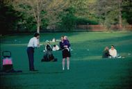 Ted Kennedy Jr. in Central Park together with his wife Katherine and daughter