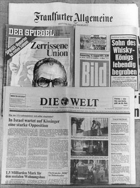 Various newspapers from 1975