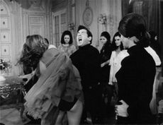 """A scene from the movie """" House of a Thousand Dolls"""", 1967."""