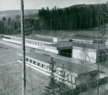 The museum building at Maihaugen in Lillehammer, designed by Sverre Fehn and Geir Grung