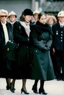 The family mourn together after the lost president François Mitterrand