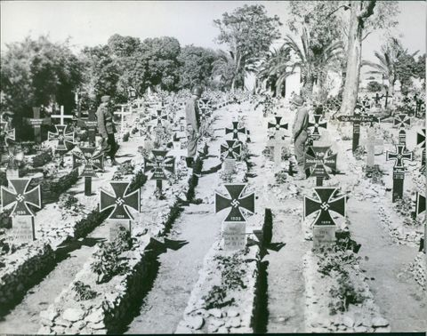 German Military Cemetery On Outskirts Of Tunis.