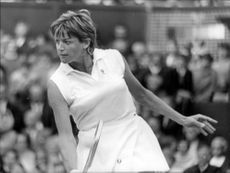 Margaret Court in Wimbledon final against Billie Jean King