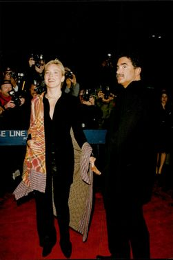 """Sharon Stone along with husband Phil Bronstein at the film premiere of """"The Man With Iron Mask"""""""