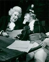 "Tomas von Brömssen and Rune Turesson in ""Gustav III"" at the Gothenburg City Theater"