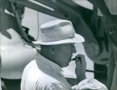 Otto Preminger wearing a hat. 1960.