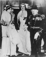 Winston Churchill with women.