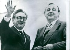 A photo of Dr. Kissinger & Hans-Dietrich Genscher in Washington. 1975
