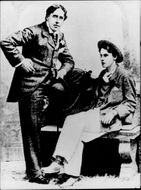 The writer Oscar Wilde with his friend Alfred Douglas