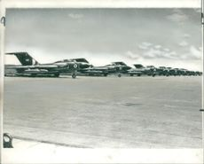 RAF Javelin fighters lined up at Nairobi airport during Zambia Crisis 1965