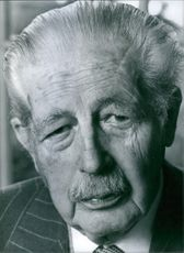 1979  Portrait of Maurice Harold Macmillan former Prime Minister and First Lord of the Treasury (1957-63): Chancellor of Oxford university, since 1960.