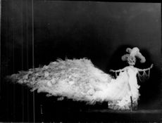 """Danny La Rue, """"The King of Drag"""" in a dress that cost 2000 pounds."""