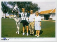 Boris Becker with Noah and parents during their vacation in Dubai
