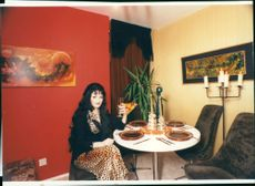Angie Smith is wearing polyester, leopard print,