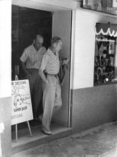 The Duke of Windsor came out of a salon