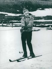 Charles, Prince of Wales standing on snow.