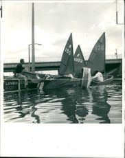 Floods 1966-1989:Police ordered the yachtman off the road.