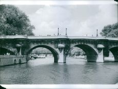 A general view of The Pont Neuf bridge in Paris, France.