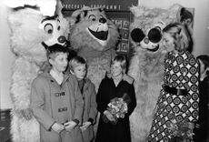 Prince Laurent in a children party.