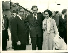 Dr. Henry Kissinger with Anne Armstrong and Mr. Crosland.