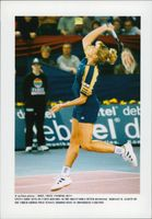 Steffi Tomb during the Grand Prix Tennis Tournament in Germany.