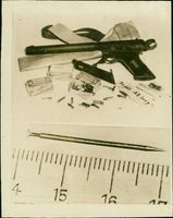 Francis Gary Powers' pistol and ammunition.