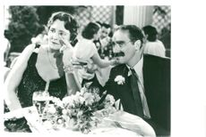 """Groucho Marx together with Margaret Dumont in """"Galak night on the opera"""""""