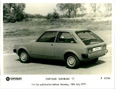 "Motor Car: Chrysler Sunbeam 'S""."