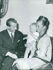 Albert II of Belgium and his wife Queen Paola of Belgium with their child.
