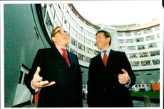 Michael Portillo with David Frost.