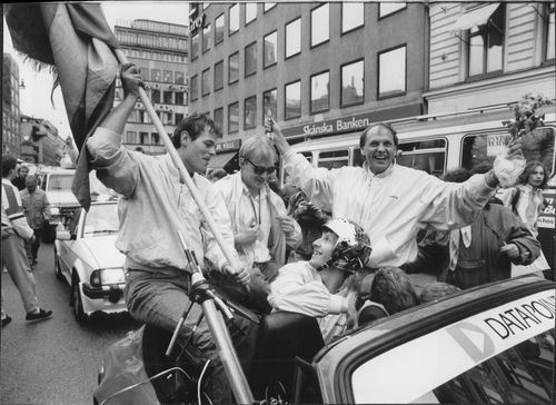 Ice Hockey World Cup 1987 - Cardigan through Stockholm
