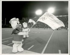 OS Mascot Hidy and Howdy at McMahon Stadium during the opening of the Olympic Games in Calgary.
