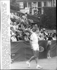The police are barred against protesters outside the Redland Tennis Club in Bristol during the Buster Mottram match in the Davis Cup in 1978