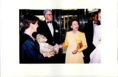 Princess Margaret being shown the world's most valuable Teddy Bear