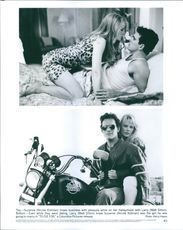 """Two scenes of Nicole Kidman and Matt Dillon in the film """"To Die For"""", 1995."""