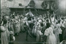A scene from the film Two Kings. 1925